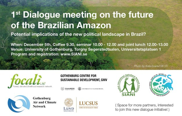 1st Dialogue meeting on the future of the Brazilian Amazon - potential implications of the new political landscape?