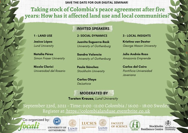 Land use changes and its dynamics in Colombia almost five years after the signing of the peace agreement