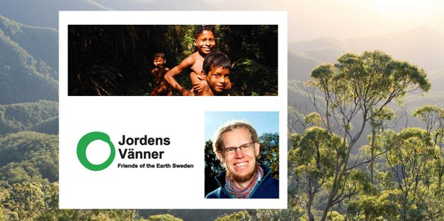 Presentation by Focali researcher Martin Persson during rainforest exhibition