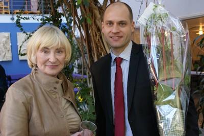 Eskil Mattsson och Sandra Brown